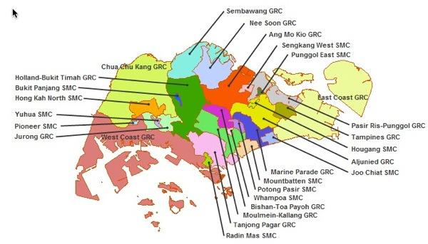 Singapore Election 2011 Boundaries