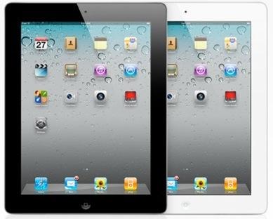 ipad 2 white and black. A) iPad 2 is sleeker than iPad