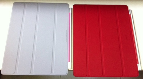 20110429 - iPad 2 Smart Cover - Polyurethane vs Leather - Pic1