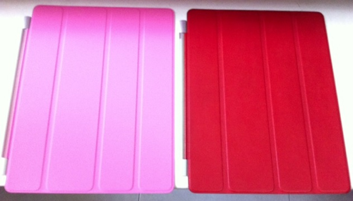 20110429 - iPad 2 Smart Cover - Polyurethane vs Leather - Pic2
