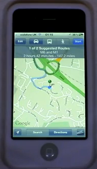 iOS5 Alternative Map Routes