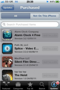 iOS5 App Purchase History