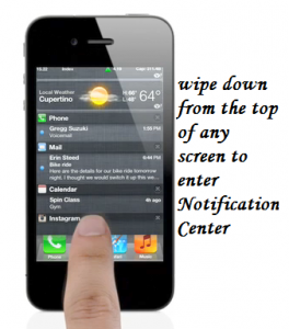 iOS5 Notification Centre