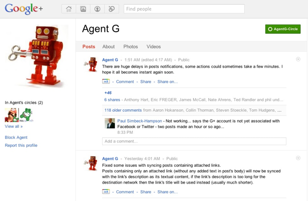 20110719 - Agent G Sync Google Plus to Facebook 4