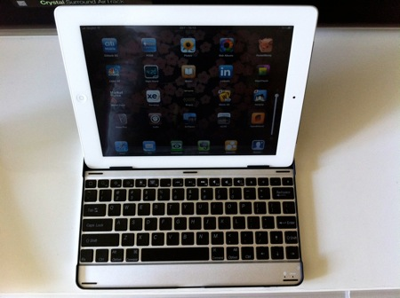 Aluminium keyboard buddy case for ipad2 4