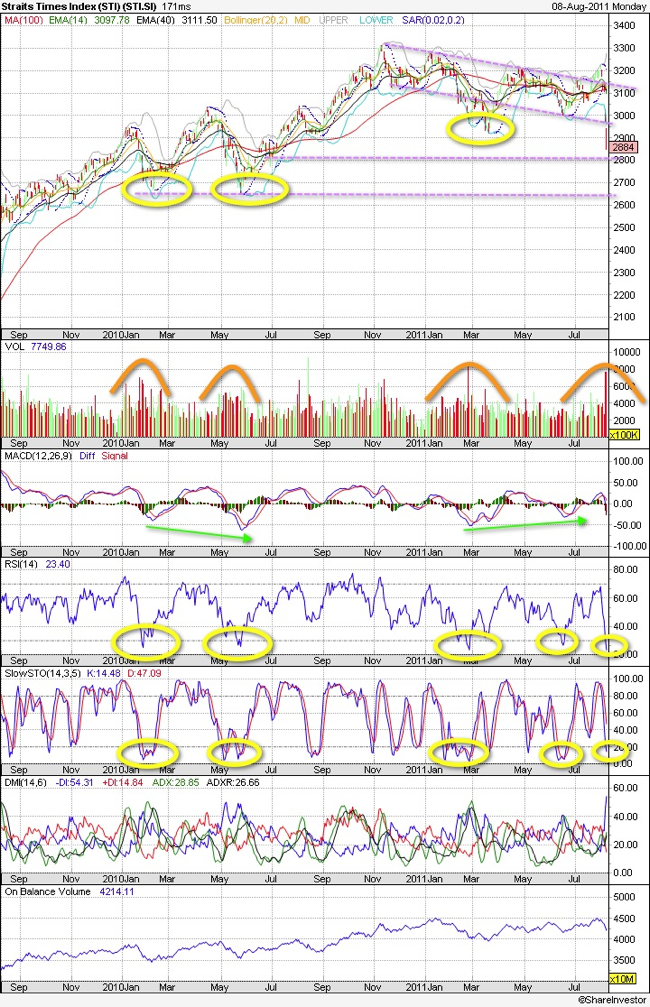 20110808 - Straits Times Technical Charts