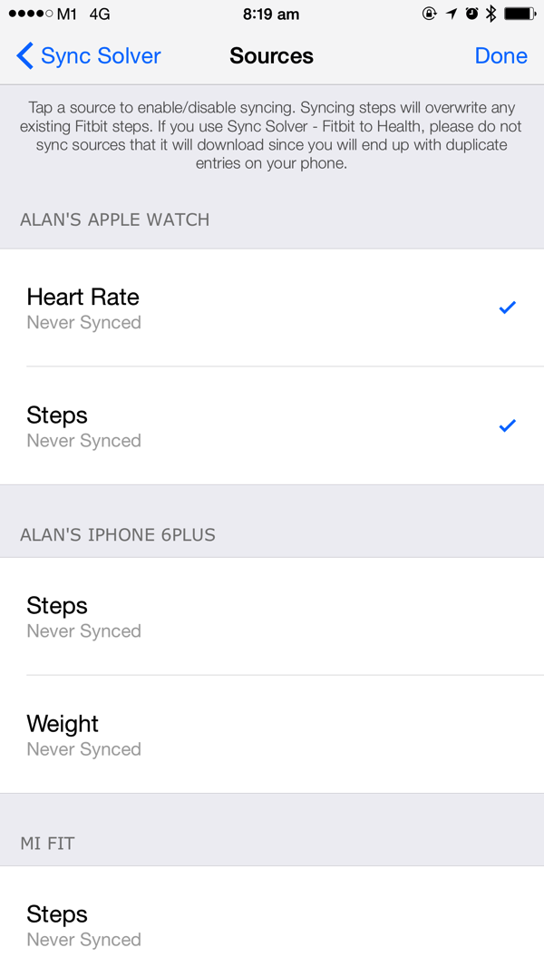 Apple Watch - Health data sync to Fitbit - Sync Solver 2