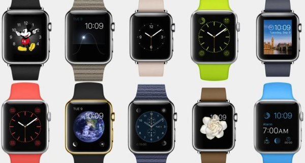 Apple Watch - different clock faces