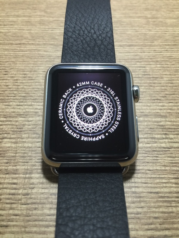 Apple Watch - first time pairing - pairing logo