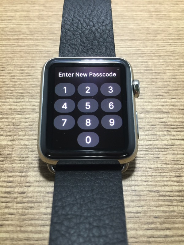 Apple Watch - first time pairing - setup access pass code
