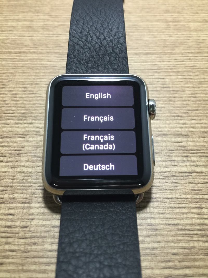 Apple Watch - first time pairing - step1 - watch language