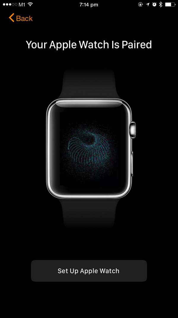 Apple Watch - first time pairing - step3 - auto identify watch