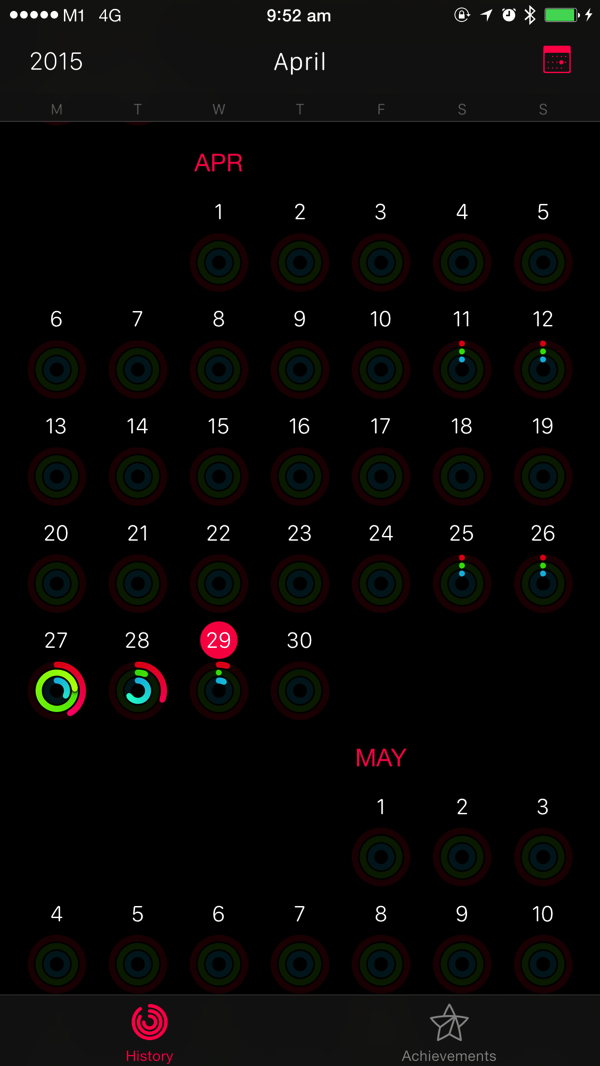 Apple Watch - test workouts - compare accuracy - Apple Health Data - Activity overview