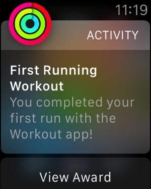 Apple Watch - test workouts - outdoor run - 3