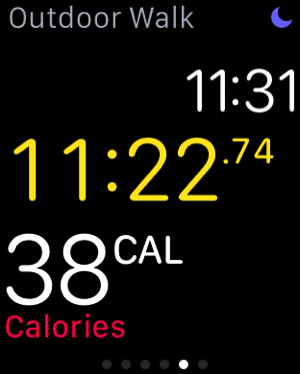 Apple Watch - test workouts - outdoor walk - measure calories