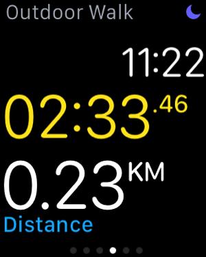 Apple Watch - test workouts - outdoor walk - measure distance