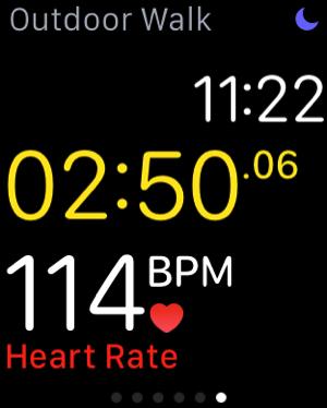 Apple Watch - test workouts - outdoor walk - measure heartbeat