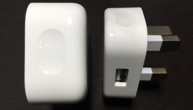 Apple Watch - unboxing - new 3 pin plug charger - view 3