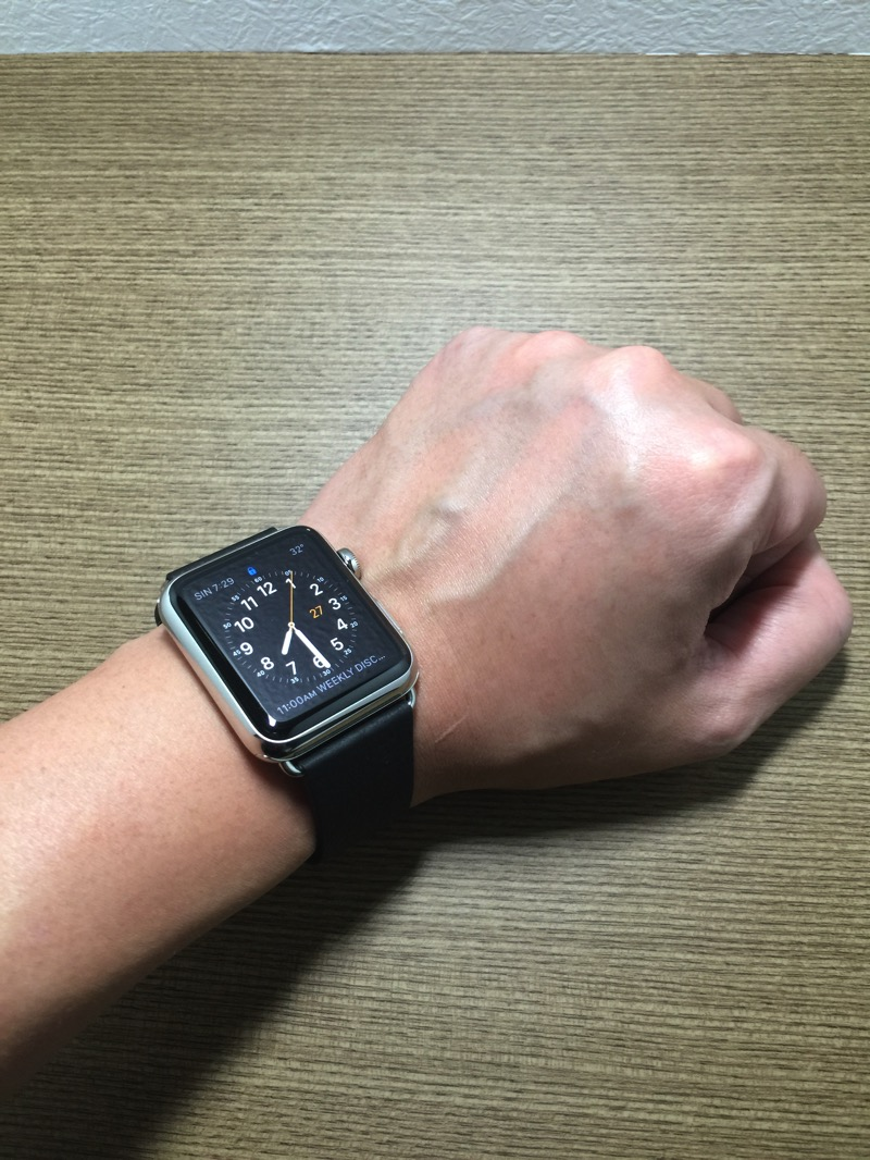Apple Watch - wearing it on hand - view 1