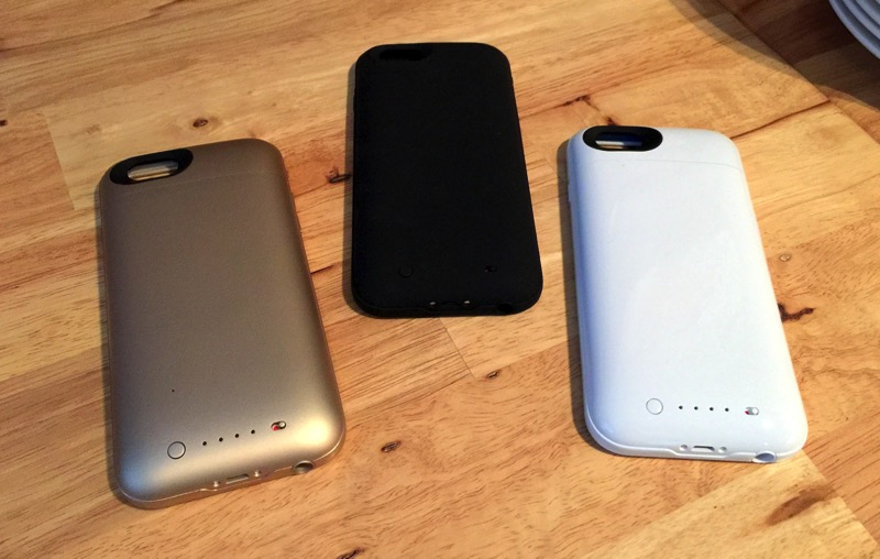 Mophie Juice Pack - Gold vs Black vs White