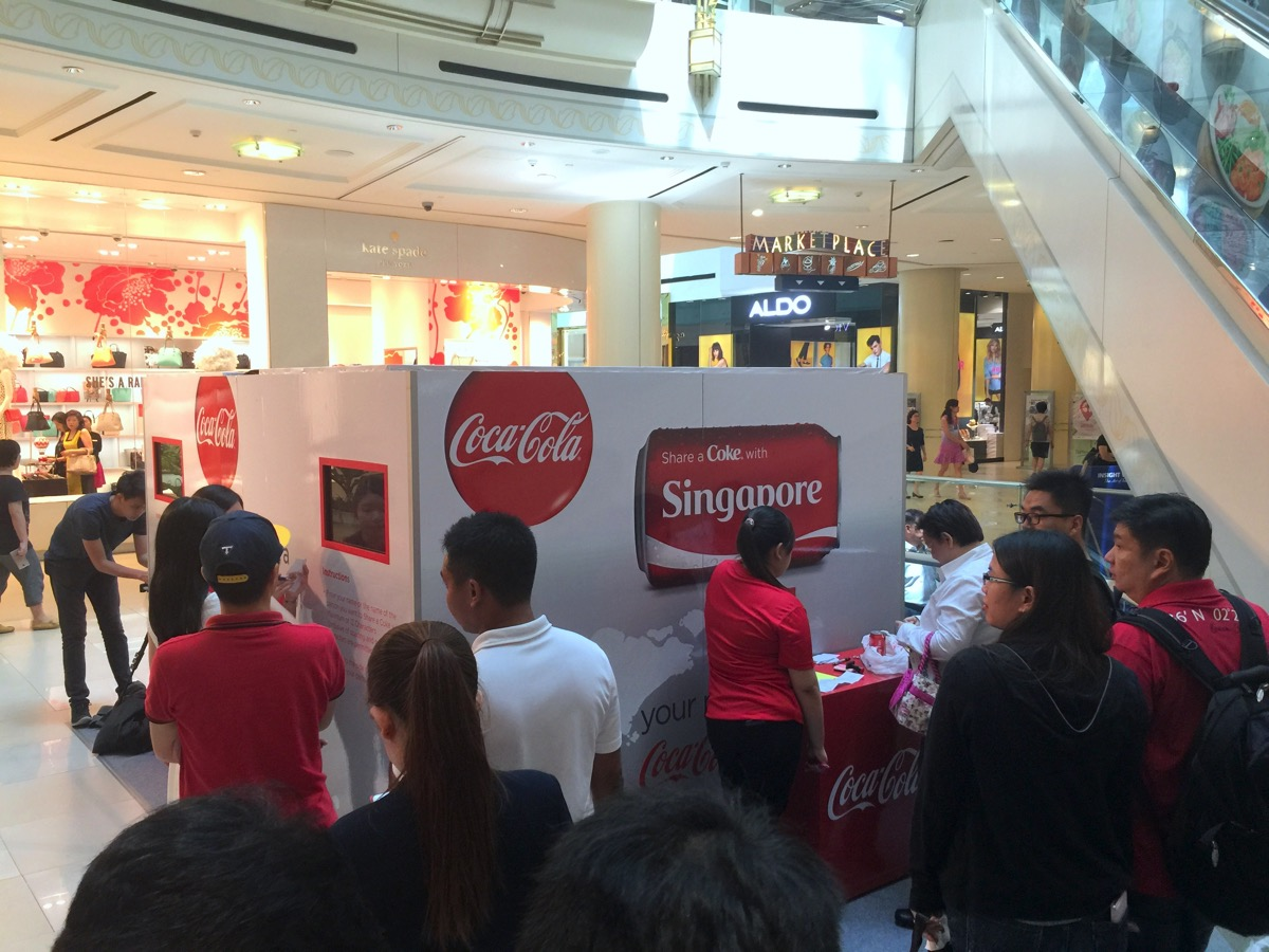 Share A Coca Cola - Event booth