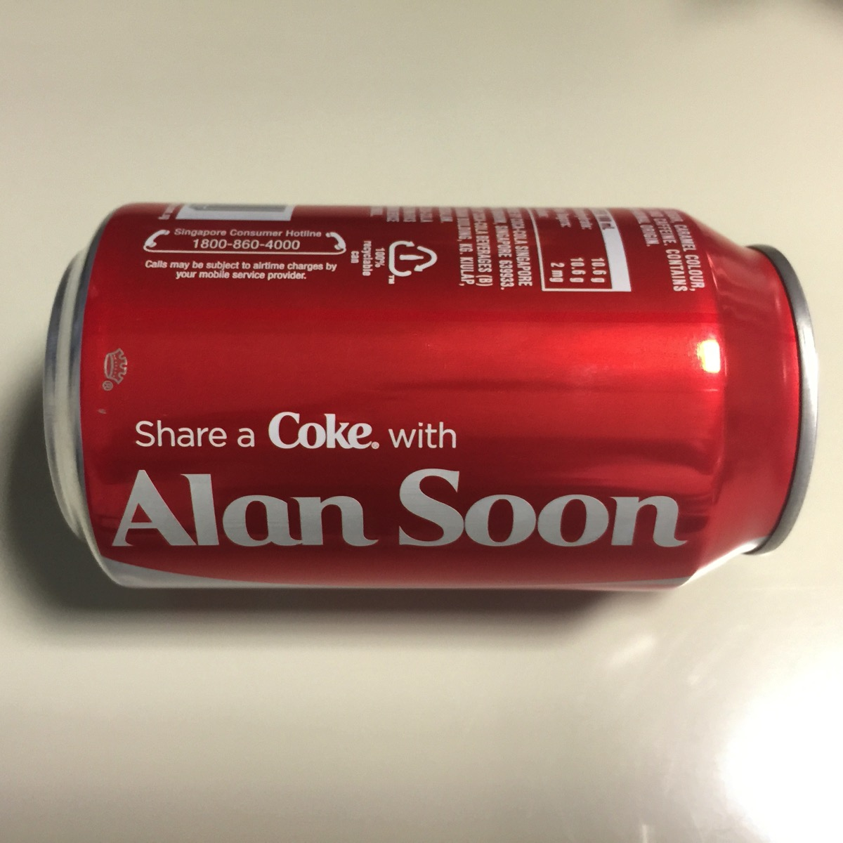 Share A Coca Cola - My own can