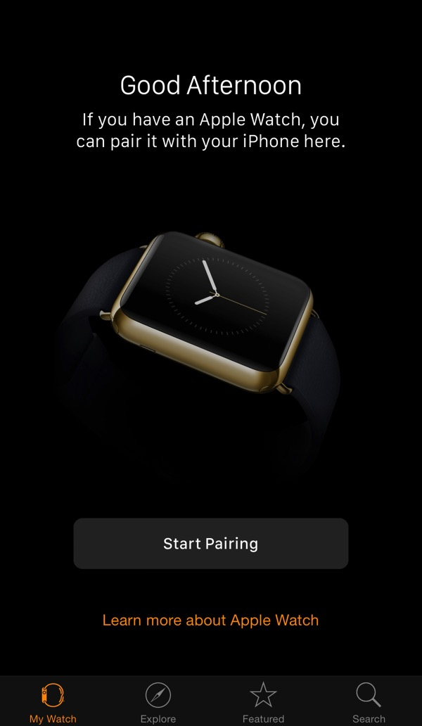 apple watch - Pairing with iPhone