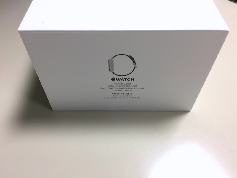 apple watch - box (42mm Stainless Steel)