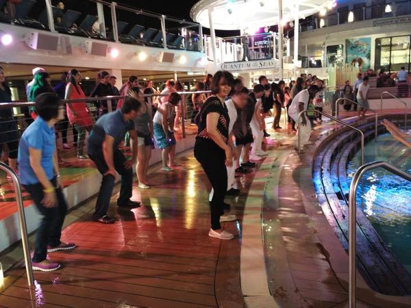 Disco at Pool Deck