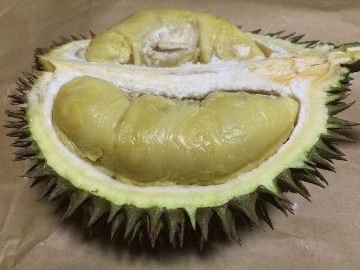 Golden Phoenix Durian - Inside fruit view - Meat