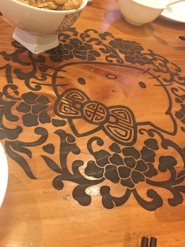 Hello Kitty Chinese Restaurant in HK - Table top