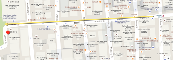 Hong Kong Hello Kitty Restaurant - location map
