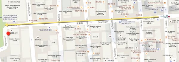 Hong Kong Hello Kitty Restaurant - location map