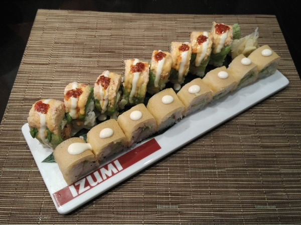Izumi - Champagne Lobster in Yuzu roll, Crispy Philly