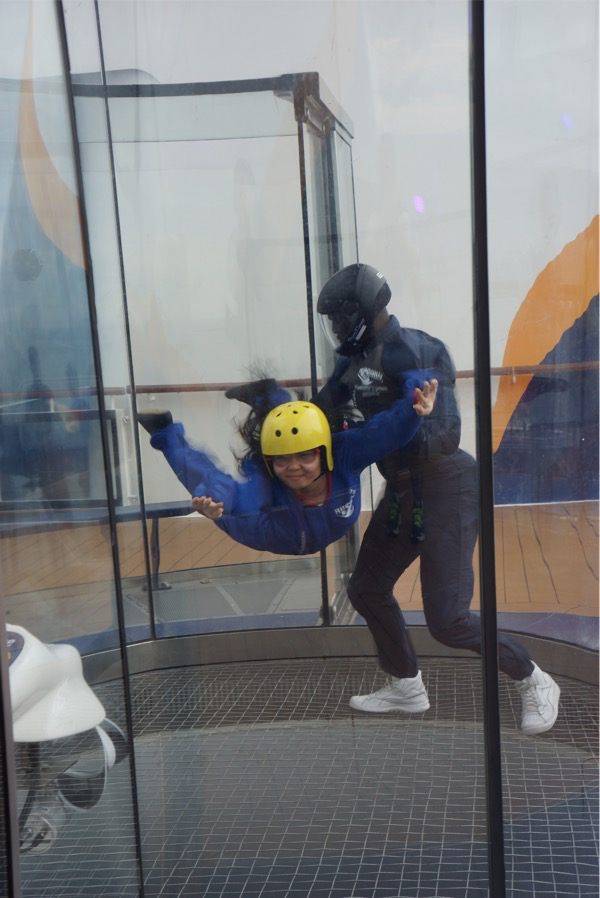iFly - inside wind chamber