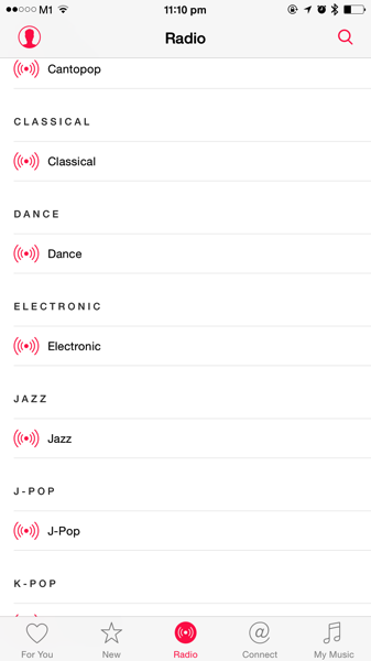 Apple Music - streaming radio channels