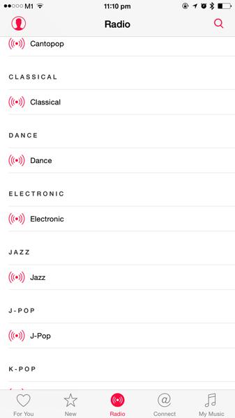 Apple Music - streaming radio channels