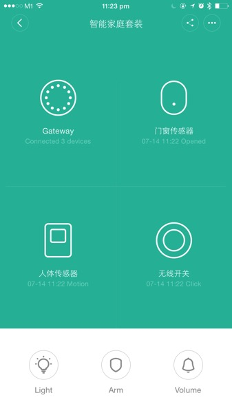 Mi Smart Home Kit 小米智能家庭套装 - Home Automation App - All sensors connected
