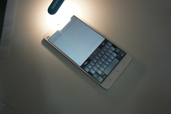 MiNote launch experiential event 2015 - Sunlight display (on keyboard)