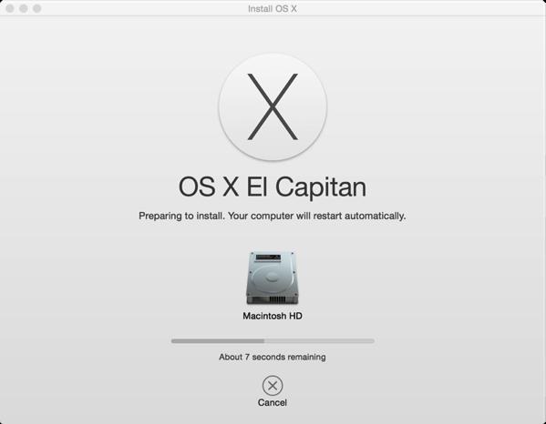 OS X El Capitan - installing