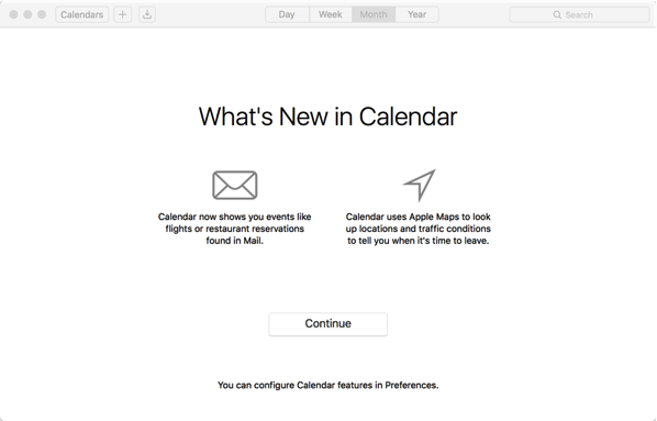 OS X El Capitan - new calendar