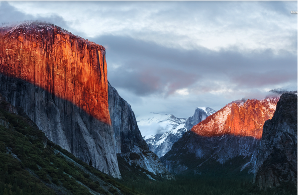 OS X El Capitan - new desktop wallpaper