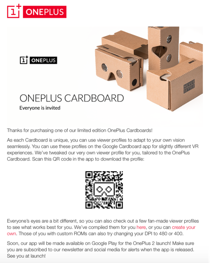 Oneplus Launch - email invite