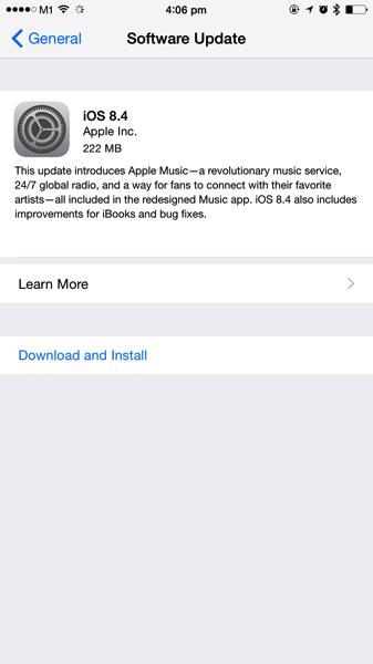 Update iOS8.4