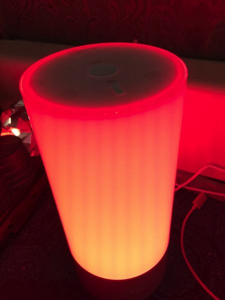 Yeelight bedside lamp - orange light