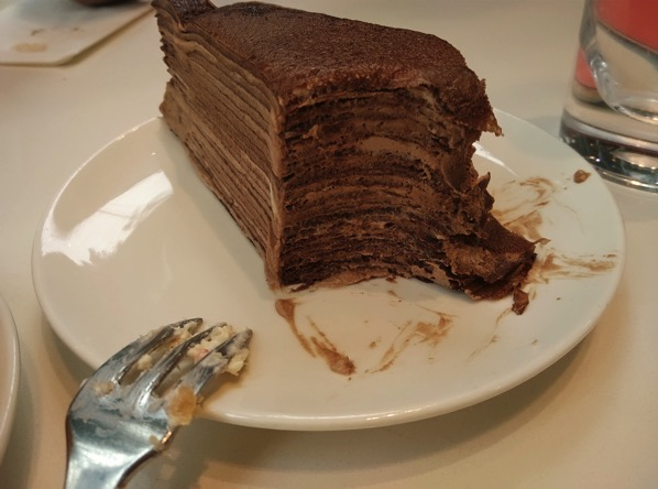 Lady M Confections (New York) - Signature Chocholate Mille Crepe (Sliced)