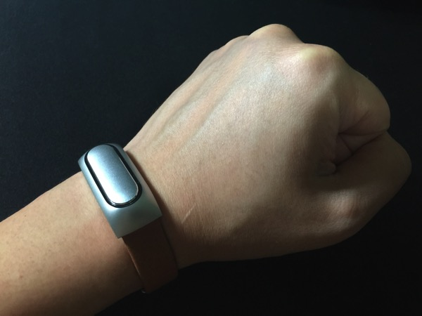 Mi Band Leather Strap - on wrist (UP)