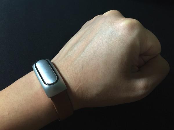 Mi Band Leather Strap - on wrist (UP)