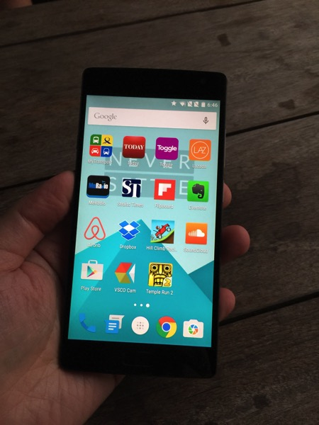 OnePlus Two Launch - front view of Oneplus two