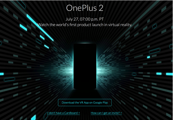 Oneplus Two - VR Launch